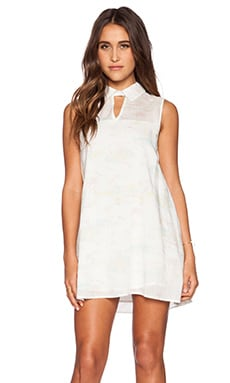 RVCA Days of Haze Dress in Vintage White