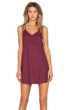 RVCA Maris Mini Dress in Burgundy