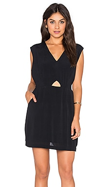 RVCA Meecrow V Neck Mini Dress in Black