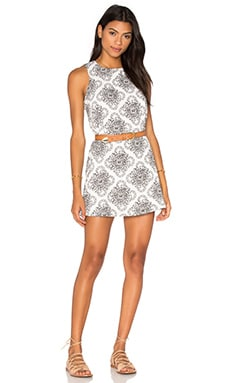 RVCA Reve Illusoire Dress in Vintage White