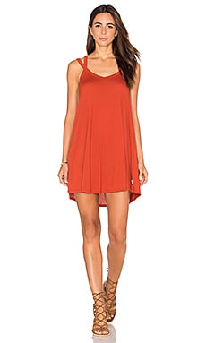 RVCA Like It Dress in Red Rust