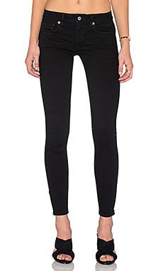 RVCA Lately Skinny Jean in Black Overdye