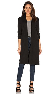 RVCA Dusty Long Cardigan in Black