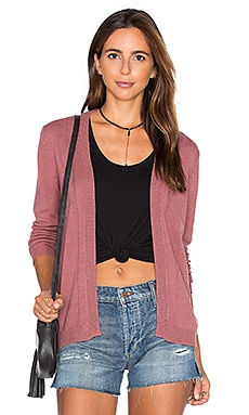 RVCA Sayso Cardigan in Rosewood
