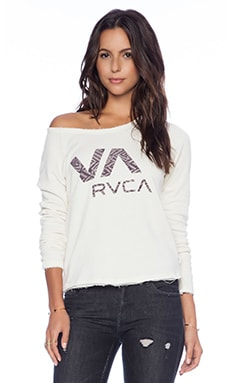 RVCA New Tribe VA Raglan in Natural