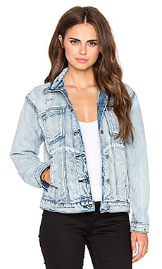 RVCA Road Worthy Denim Jacket in Washed Out Blue