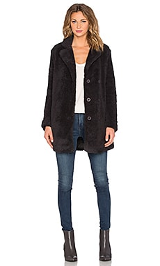 RVCA Warm Me Up Faux Fur Coat in Black