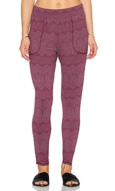 RVCA Slow Your Roll Sweatpant in Burgundy