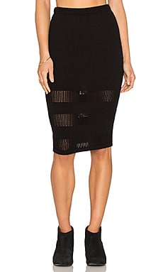 RVCA Nitty Gritty Skirt in Black