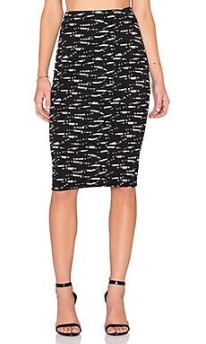 RVCA My Other Half Pencil Skirt in Black