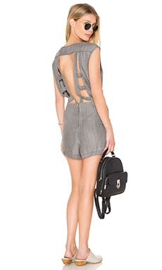 RVCA Easier Said Romper in Charcoal