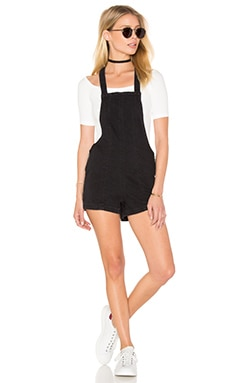 RVCA Hold It Romper in Faded Black