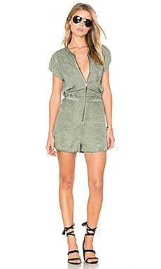 Rockfield Romper in Smoke Green