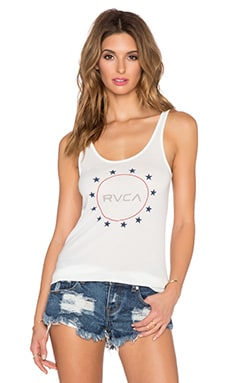 RVCA Gun Club Tank in Vintage White