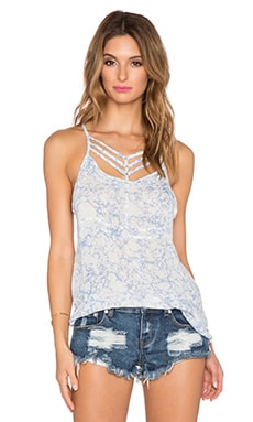 RVCA Younger Days Tank in Blue Crest