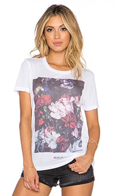 RVCA Roses Tee in Vintage White