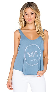 RVCA Tropic Circle Tank in North Atlantic