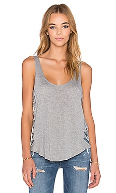 RVCA Slashed Tank in Heather Grey