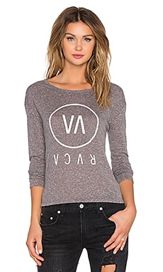 RVCA High End Long Sleeve Top in Atheltic Heather