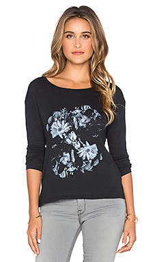 RVCA In The Dark Long Sleeve Top in Black