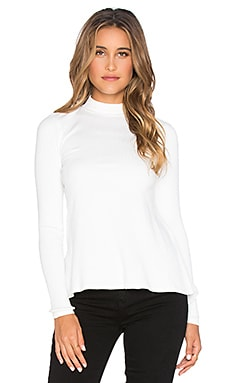 RVCA Common Law Long Sleeve Top in Vintage White