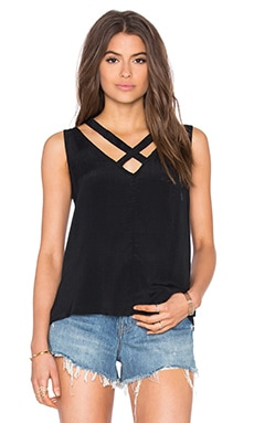 RVCA Tidal V Neck Tank in Black