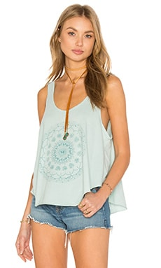 Skull Mandala Tank in Cool Mint