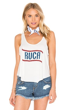 RVCA RVCA Flag 4th Tank in Vintage White