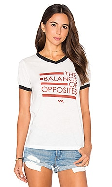 Balance Lines Tee in Vintage White