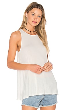 Label Tunic Tank in Vintage White