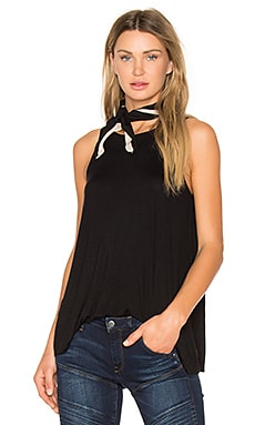 Label Tunic Tank in Black