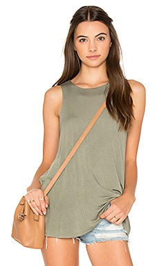 Label Tunic Tank in Smoke Green