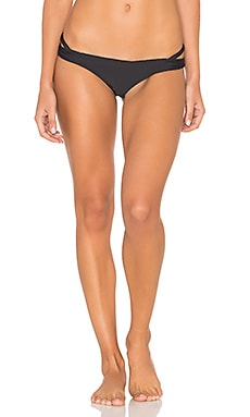Bold Rose Skimpy Bikini Bottom in Black