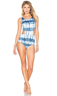 Isla Tie Dye One Piece in Indigo