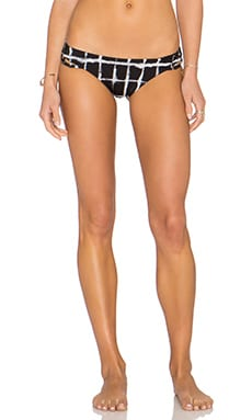 RVCA Painted Cheeky Bikini Bottom in Black