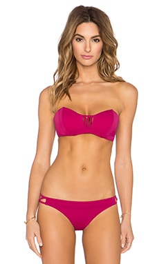 RVCA Painted Bandeau Bikini Top in Rosewater
