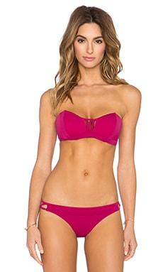 RVCA Painted Bandeau Bikini Top in Rosewater