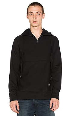 Raised by Wolves Trashhand Half-Zip Hoody in Black