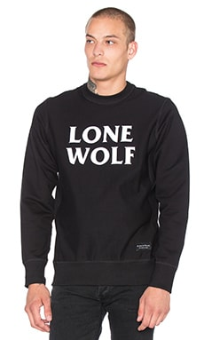 Raised by Wolves Lone Wolf Crewneck Sweatshirt in Black