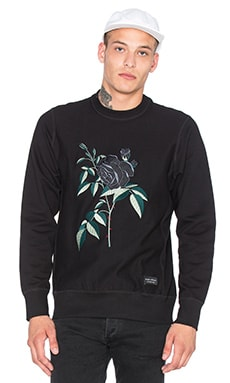 Raised by Wolves La Rose Noire Crewneck in Black
