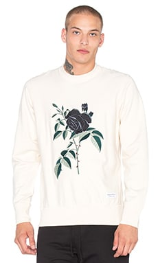 Raised by Wolves La Rose Noire Crewneck in Natural