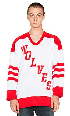 Raised by Wolves Wolves Pro Hockey Jersey in Red/White
