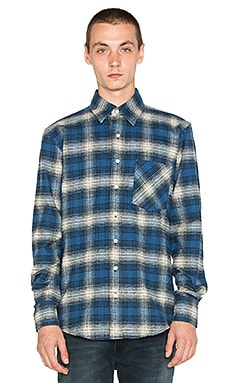 Raised by Wolves Mammoth Button Down in Blue Plaid