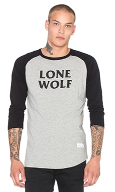 Raised by Wolves Lone Wolf Warm Up Tee in Heather Grey & Black