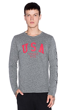 Rxmance USA L/S Tee in Heather Grey