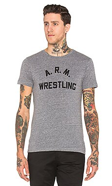 Rxmance Arm Wrestling Crew Tee in Tri Blend