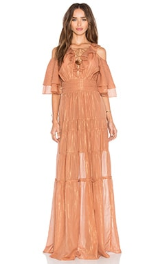 RACHEL ZOE Danielle Maxi Dress in Terracotta
