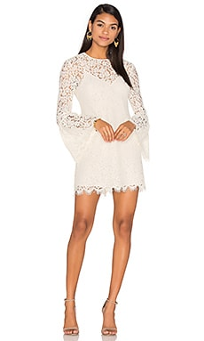 Bell Sleeve Mini Dress in Ecru
