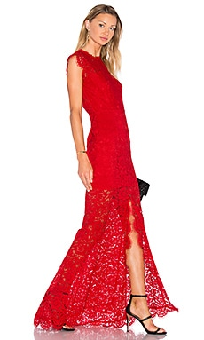 Estelle Cut-Out Back Maxi Dress in Rouge