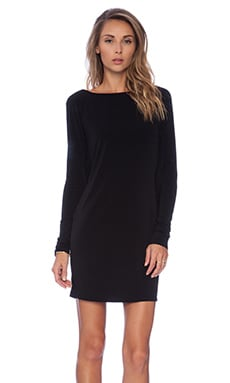 Casey Drape Back Dress in Black